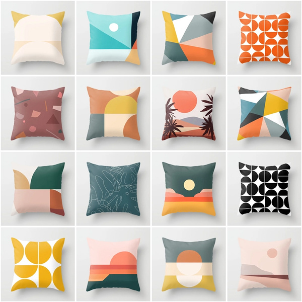 45 45cm 18 inch 18 inch mid century modern geometric polyester throw pillow cover car cusion cover sofa home decorative pillowcase wish