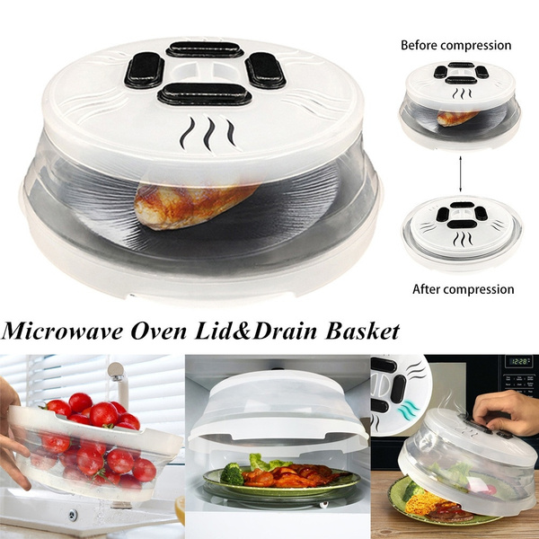 magnetic microwave plate cover splatter guard with steam vents and strong magnets microwave cover anti splash lid keeps microwave oven clean wish