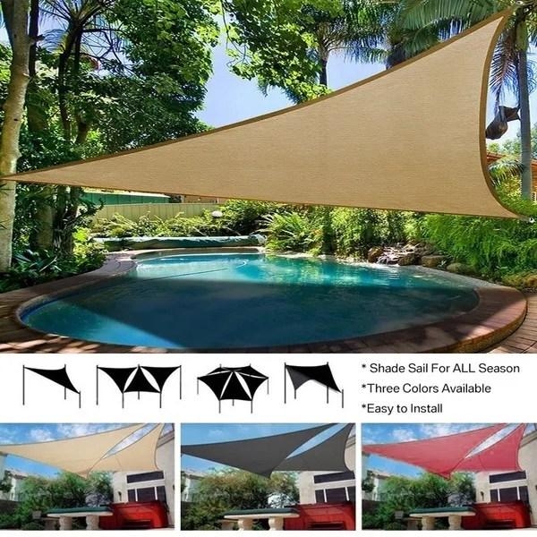 outdoor waterproof uv triangular sun shade sail combination net garden shade canopy patio shade cloth swimming pool sail shade lawn patio awning