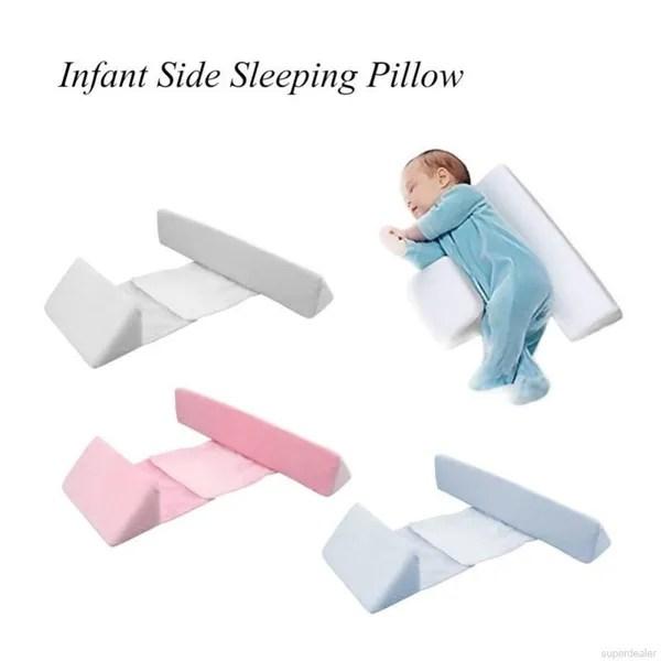 newborn baby sleep pillow adjustable support infant sleep positioner prevent flat head shape anti roll side sleepeer pro pillow wish