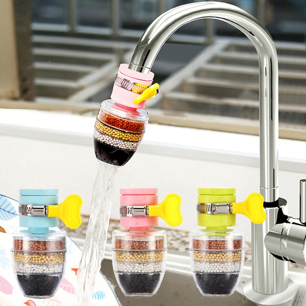home 6 layers kitchen hard water softener removes chlorine fluoride with filtration cartridge faucet purifier faucet tap water purifier water filter