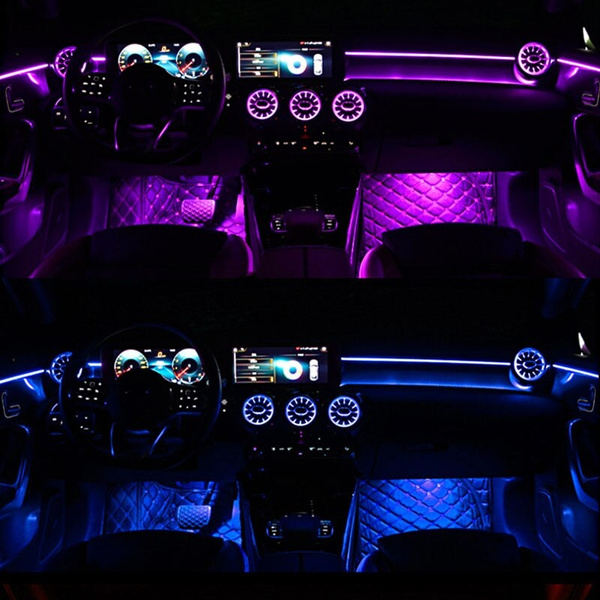 for mercedes benz w177 new a class a180l a200l 64 color ambient light central control atmosphere light wish