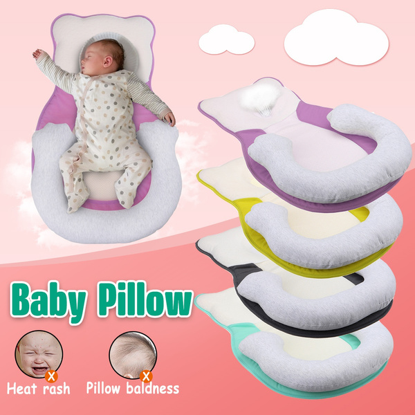 portable baby pillow sleep cushion pad newborn crib nest bed mattress breathable wish