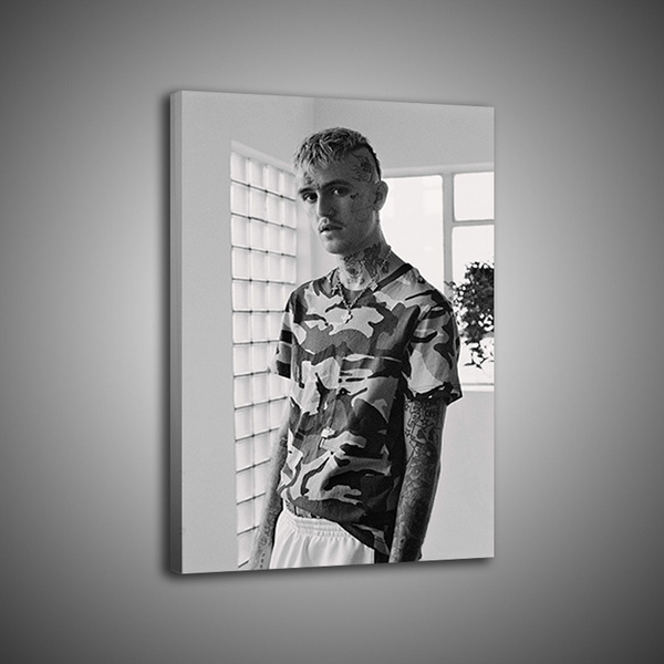 1p hd printing modern home mural black and white art by lil peep painting mural art poster decoration no framed wish