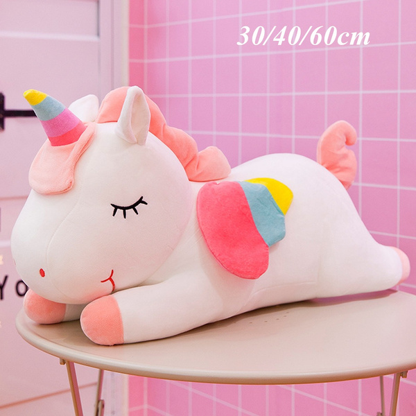 unicorn plush toy stuffed animal plush toy cute cushion doll throw pillow 30 40 60cm wish
