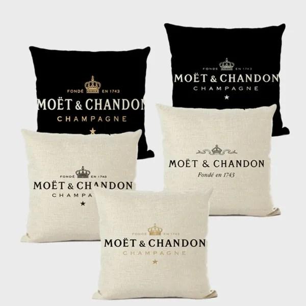 black linen pillow case luxury decorative pillow case white hotel home sofa cushion cover 45 45cm wish