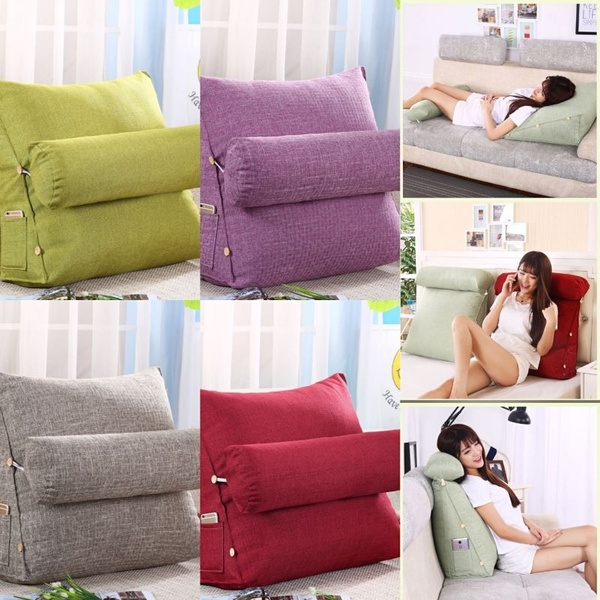 adjustable bed rest back pillow cushion lounger back pain relief pillow reading back rest seat soft sofa office chair living room cushion home decor