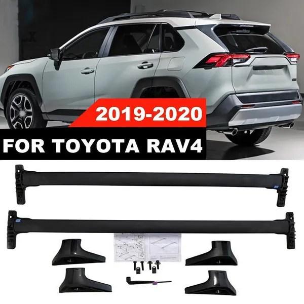 for toyota rav4 rav4 hybrid 2019 2020 roof rack cross bar top carrier aluminum wish