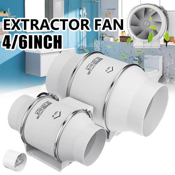 4 6inch fan silent wall extractor exhaust ventilation fan air blower window vent for kitchen bathrooms bedroom wish