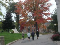 A walk with my cousins through the campus of Acadia University in Wolfville N.S. on Thanksgiving Sunday.