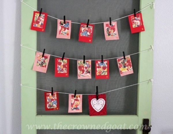Adorable advent calendar for Valentine's Day {The Crowned Goat}