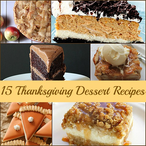 15 Delicious Thanksgiving Dessert Recipes from {Canary Street Crafts}