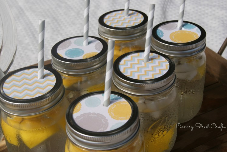 Mason Jar Paper Drink Toppers - canarystreetcrafts.com