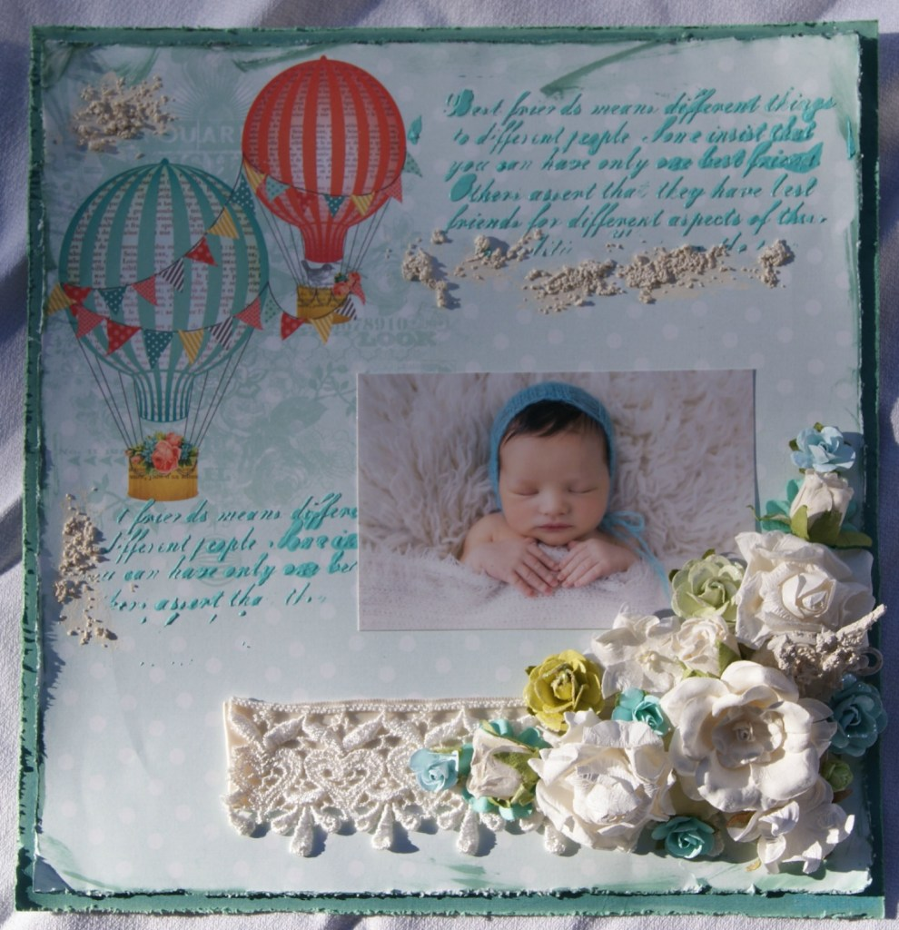 "Scrapbook Layout ""New Beginnings""  canarystreetcrafts.com"