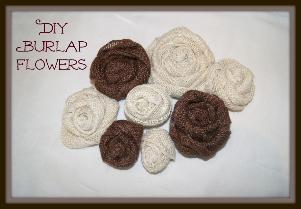 Easy DIY Burlap Flowers-  canarystreetcrafts.com