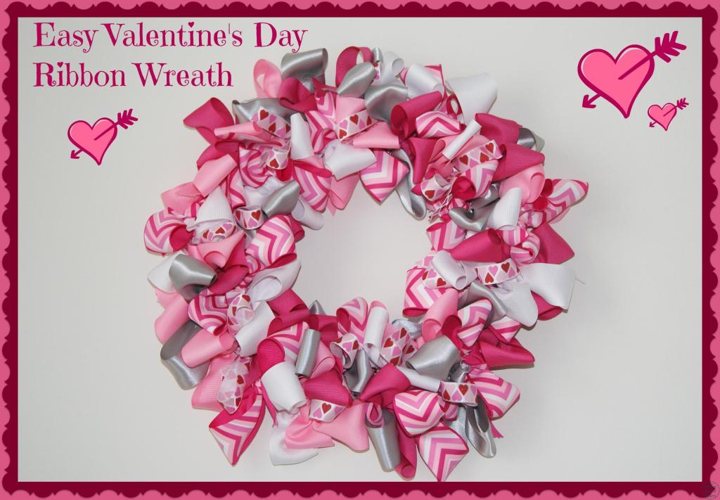 Easy Valentine\'s Day Ribbon Wreath - Canary Street Crafts