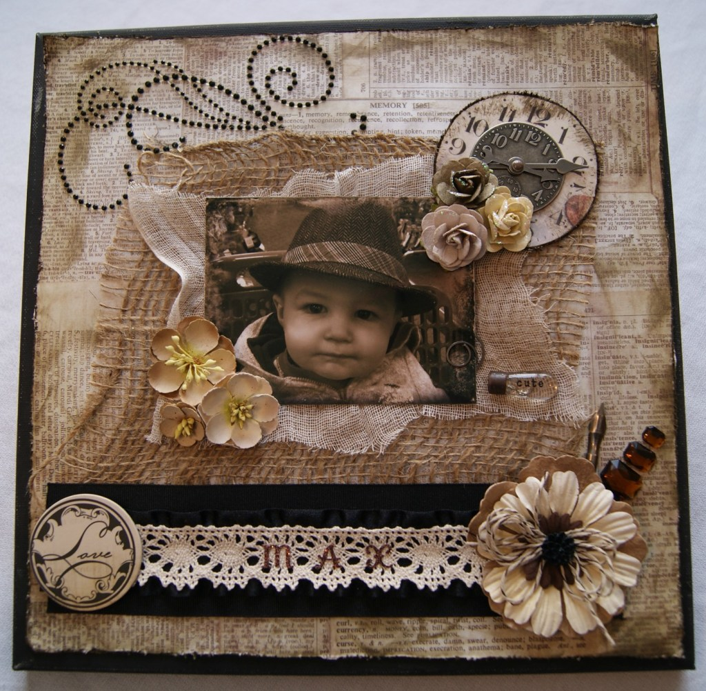 "Scrapbooking layout tutorial ""Max""  www.canarystreetcrafts.com"