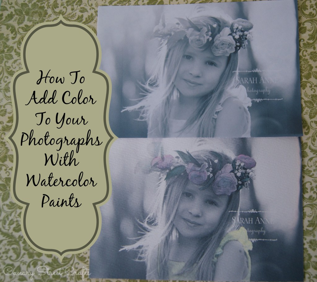 How to add color to photographs with watercolor paint - Canary Street Crafts