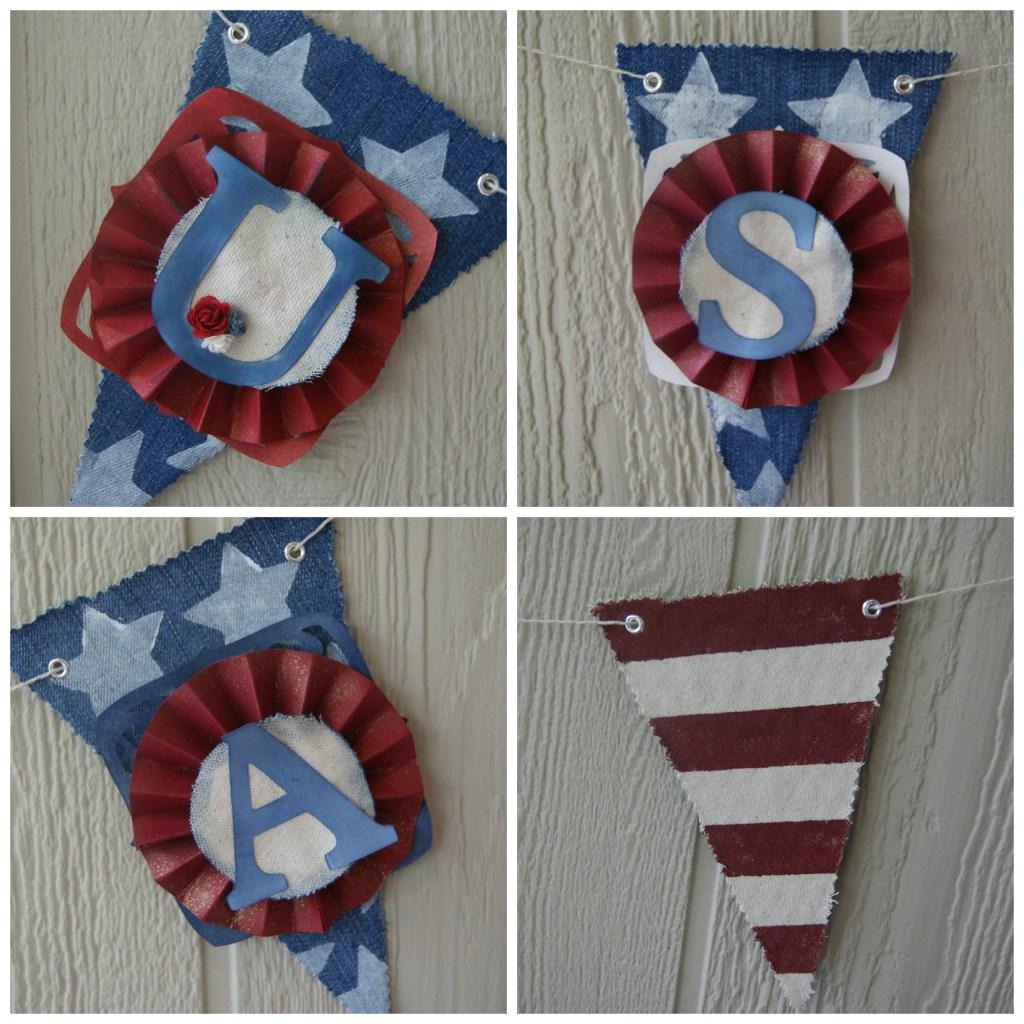 DIY Patriotic Banner ~ canarystreetcrafts.com