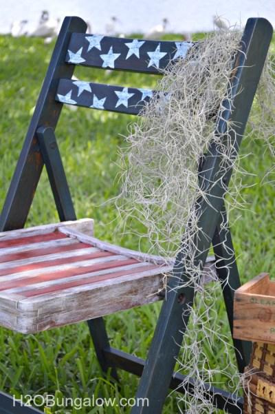Americana-Patriotic-Decoupage-Folding-Vintage-Chair-H2OBungalow