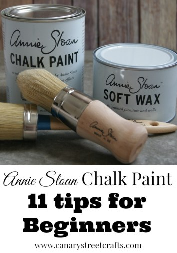 Tips for using Annie Sloan chalk paint