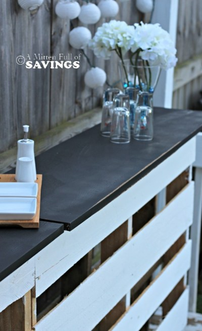 DIY-Patio-Bar-Out-Of-Wood-Pallets {A Mitten Full Of Savings}
