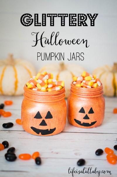 Glittery-Halloween-Jack-O-Lantern-Pumpkin-Jars