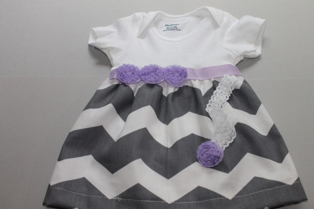 Step by step instructions for making a DIY onesie dress.  A beginners level sewing project.  http://canarystreetcrafts.com/