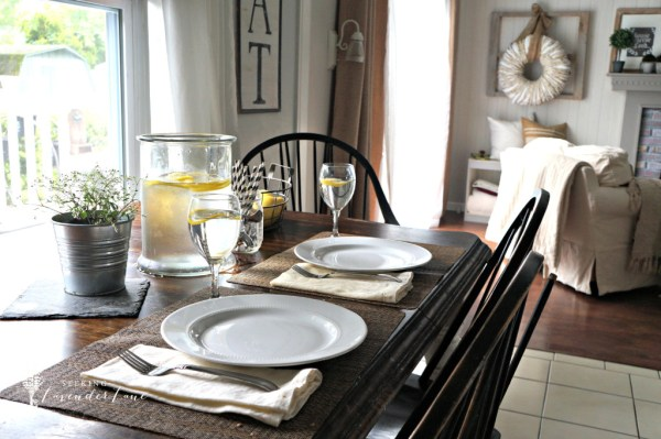 Kitchen-Table-Setting-For-Summer {Seeking Lavender Lane}