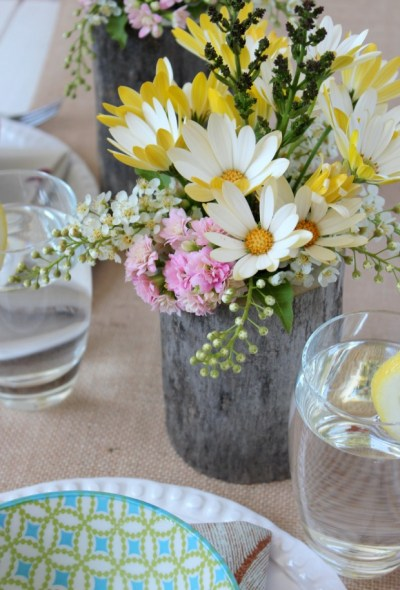 Log-Floral-Arrangments {Satori Design For Living}