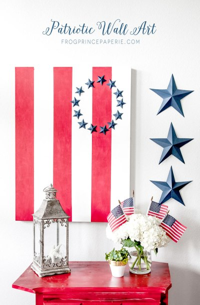 Patriotic Wall Art Canvas {Frog Prince Paperie}