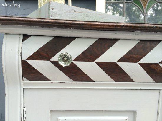 Herringbone Antique Cabinet {Refresh Living}