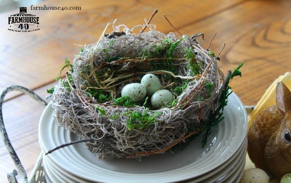 DIY Bird Nest via {Farmhouse 40}