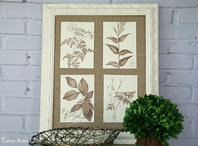 DIY-burlap-framed-botanical-art