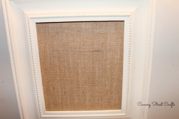 DIY framed burlap JOY sign {Canary Street Crafts}