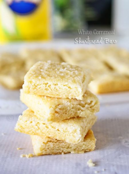 White Cornmeal Shortbread Bars from Kleinworth & Co