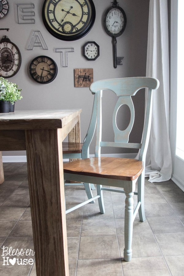 Duck Egg Blue Dining Chairs from Bless'er House