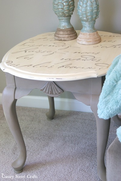 An easy way to add details to furniture using stencils.