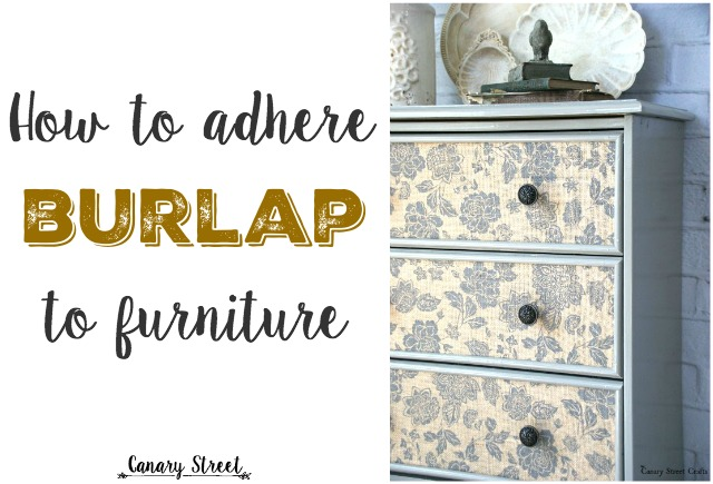 burlap furniture. this is an easy way to attach patterned burlap furniture so pretty i