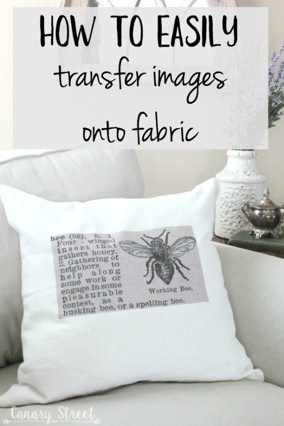 How to easily transfer images onto fabric- http://canarystreetcrafts.com/. A quick and easy way to permanently transfer images onto fabric.