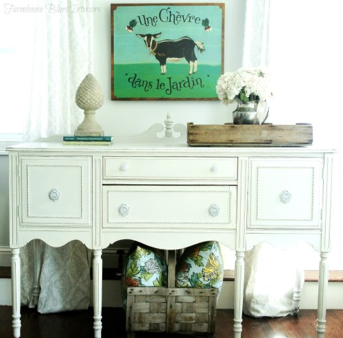 Buffet in very pale grey from {Farmhouse Blues Interiors}