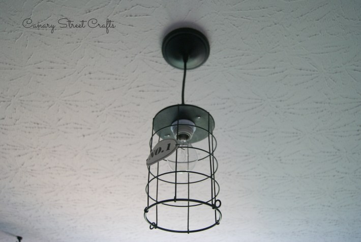 How to turn an ordinary object into a pendant light -canarystreetcrafts.com