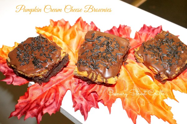 Melt in your mouth Pumpkin Cream Cheese Brownies!