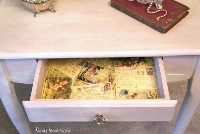 pink-vanity-decoupaged-drawer