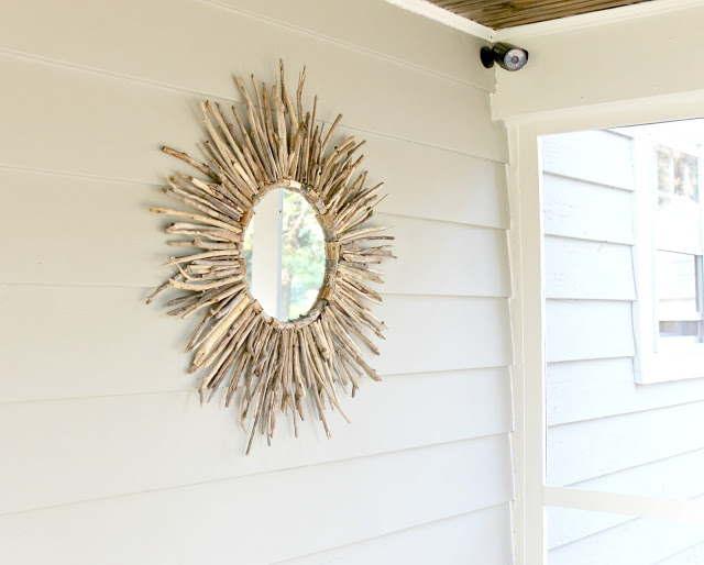 DIY Driftwood Mirror from Beyond The Portico