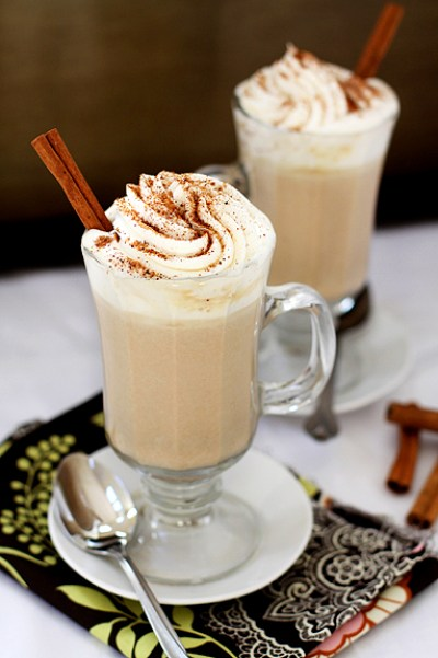 Pumpkin white hot chocolate recipe from Good Life Eats