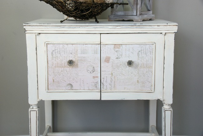sewing cabinet makeover with chalk paint canary street