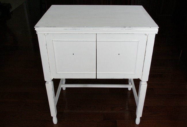 sewing cabinet makeover white canary street