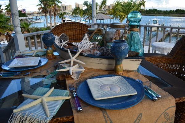 She Sells Sea Shells By The Sea Shore Tablescape {The Painted Apron}