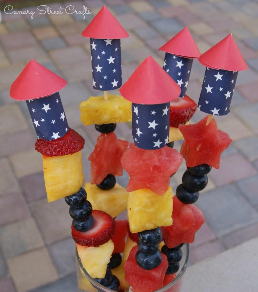 Easy DIY firecracker skewers! - Canary Street Crafts